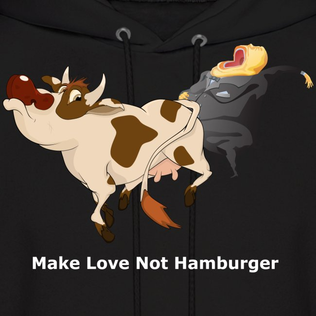 Make Love Not Hamburger - Dark Hoodie