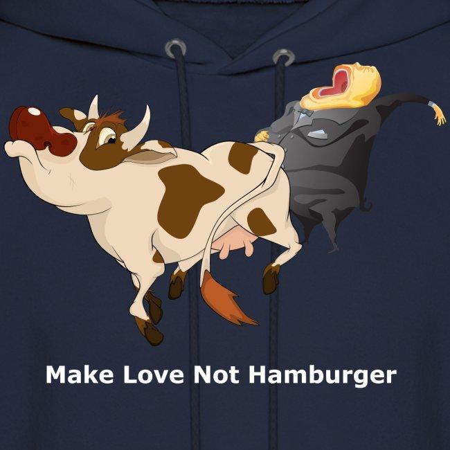 Make Love Not Hamburger - Dark Hoodie