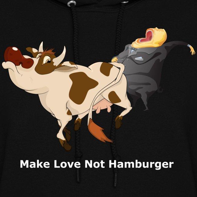Make Love Not Hamburger - Dark -Women's Hoodie