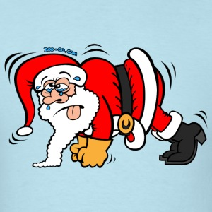 Santa Claus Doing Pushups T-Shirts - Men's T-Shirt