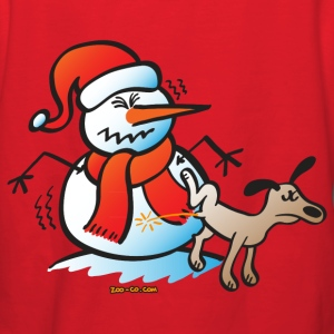 Dog Pissing on a Snowman Hoodies - Women's Hoodie