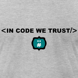 incode_wetrust_logo T-Shirts - Men's T-Shirt by American Apparel