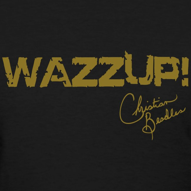 Wazzup Black Tee with Signature