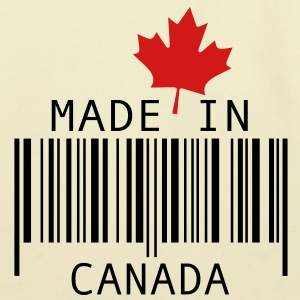 Made in Canada Red Bags  - Eco-Friendly Cotton Tote