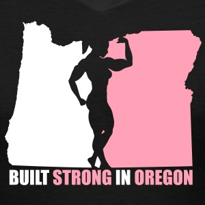 Oregon Grown Bodybuilder, Womens - Women's V-Neck T-Shirt