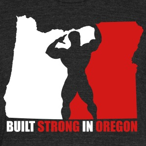 Oregon Grown Bodybuilder, Mens - Unisex Tri-Blend T-Shirt by American Apparel