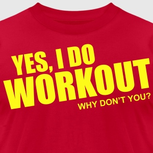 I Workout - Men's T-Shirt by American Apparel