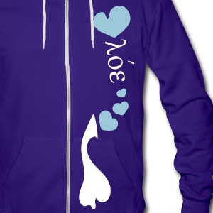 Hearts pattern unique love fonts txt vector grpahic art Unisex Fleece Zip Hoodie by American Apparel - Unisex Fleece Zip Hoodie by American Apparel