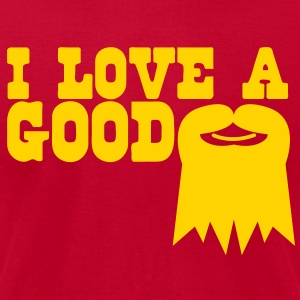 I LOVE A GOOD GOATEE moustache T-Shirts - Men's T-Shirt by American Apparel