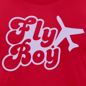 FLY BOY airline pilot captain officer flight T-Shirts - Men's T-Shirt by American Apparel
