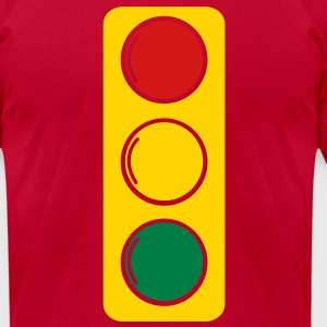 traffic lights red amber and green T-Shirts - Men's T-Shirt by American Apparel