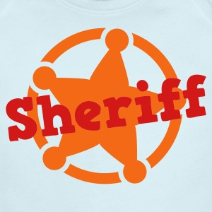sheriff badge cute Baby Bodysuits - Short Sleeve Baby Bodysuit