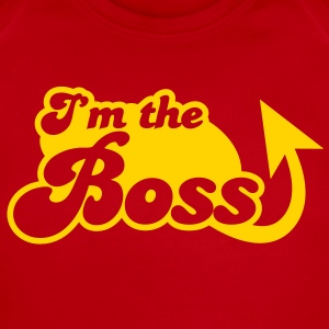I'm the Boss! with arrow Baby Bodysuits - Short Sleeve Baby Bodysuit