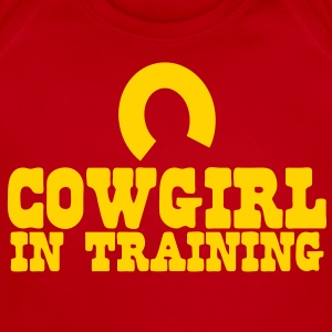 cowgirl in training - horseshoe Baby Bodysuits - Short Sleeve Baby Bodysuit