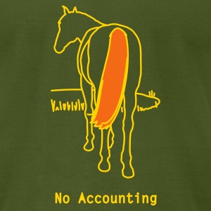 No Accounting - Men's T-Shirt by American Apparel