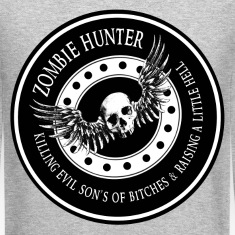 Zombie Hunter Ring Patch Revised Long Sleeve Shirts