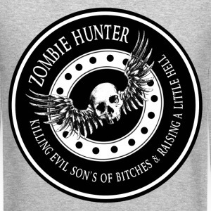 Zombie Hunter Ring Patch Revised Long Sleeve Shirts - Crewneck Sweatshirt