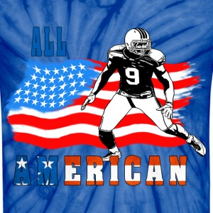 All American Football player 4 blue T-Shirts - Unisex Tie Dye T-Shirt