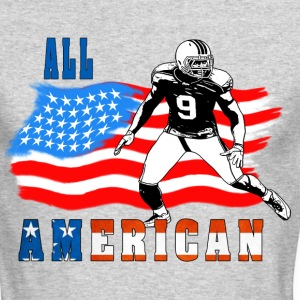 All American Football player 4 blue Long Sleeve Shirts - Men's Long Sleeve T-Shirt by Next Level