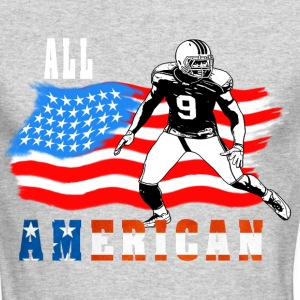 All American Football player 4 Long Sleeve Shirts - Men's Long Sleeve T-Shirt by Next Level