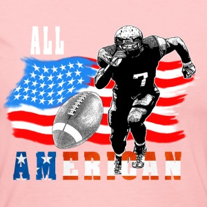 All American Football player 5 with Ball white out Long Sleeve Shirts - Women's Long Sleeve Jersey T-Shirt