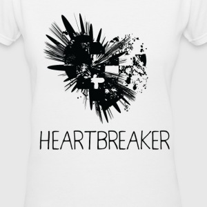 Heartbreaker - Women's V-Neck T-Shirt