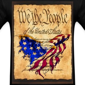 We The People American Eagle Flag Short Sleeve T-Shirt w/design on Front - Men's T-Shirt