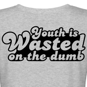 youth is wasted on the dumb Women's T-Shirts - Women's V-Neck T-Shirt