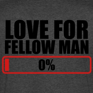 LOVE FOR FELLOW MAN 0% progress bar T-Shirts - Men's V-Neck T-Shirt by Canvas