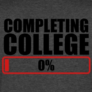 COMPLETING COLLEGE zero 0 % percent T-Shirts - Men's V-Neck T-Shirt by Canvas
