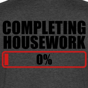 COMPLETING HOUSEWORK 0% PROGRESS BAR T-Shirts - Men's V-Neck T-Shirt by Canvas