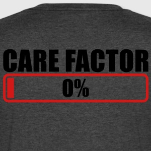 CARE FACTOR 0% progress bar T-Shirts - Men's V-Neck T-Shirt by Canvas