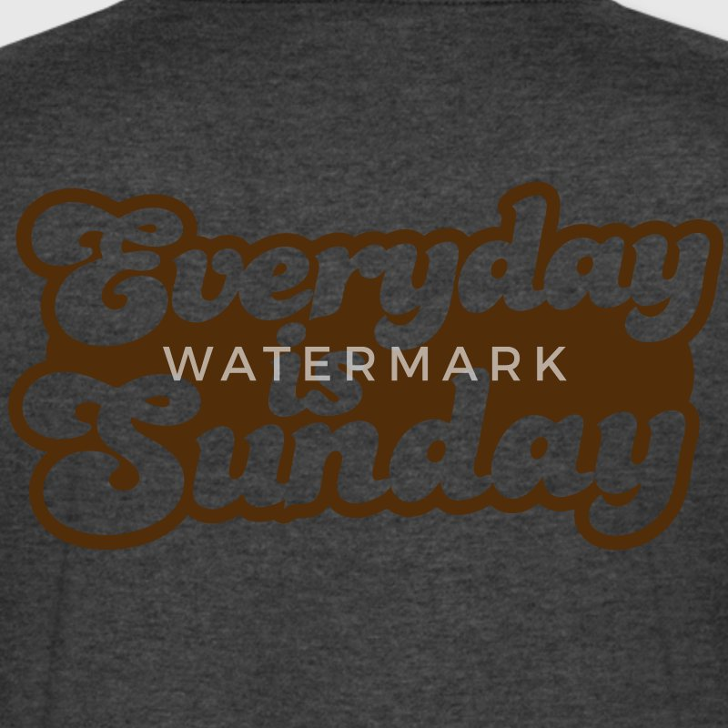 Everyday is Sunday T-Shirts - Men's V-Neck T-Shirt by Canvas