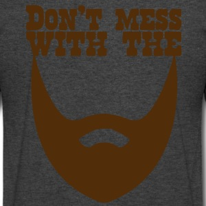 Don't MESS WITH THE BEARD T-Shirts - Men's V-Neck T-Shirt by Canvas