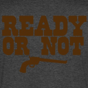 READY OR NOT T-Shirts - Men's V-Neck T-Shirt by Canvas