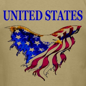 United States Eagle Flag T-Shirt design on back - Men's T-Shirt