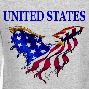 United States Eagle Flag Crewneck Sweat Shirt with design on back - Crewneck Sweatshirt