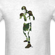Design ~ T-Shirley Men's Standard Weight T-Shirt with The Camouflage Boxer