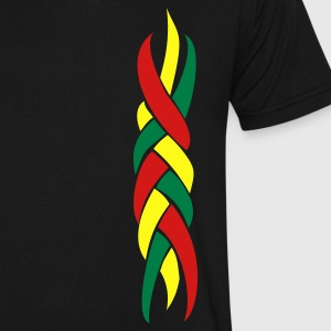 Rasta Plait - Men's V-Neck T-Shirt by Canvas