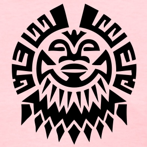 $ Mayan Tribal Face VECTOR Women's T-Shirts - Women's T-Shirt