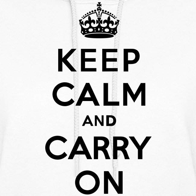 Keep Calm and Carry On Ladies Sweatshirt