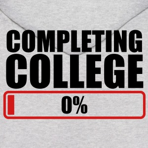 COMPLETING COLLEGE zero 0 % percent Hoodies - Men's Hoodie