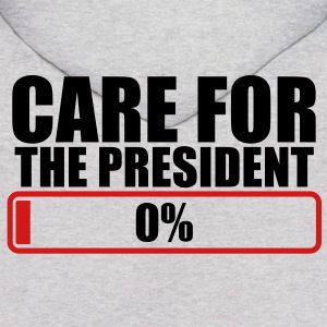 CARE FOR THE PRESIDENT 0% progress bar Hoodies - Men's Hoodie