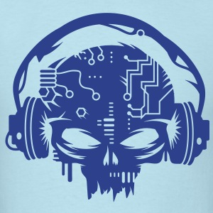 cyber Skull with headphones T-Shirts - Men's T-Shirt