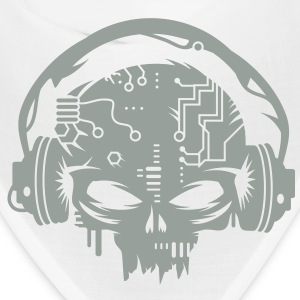 cyber Skull with headphones Caps - Bandana