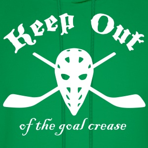 Keep Out (Of The Goal Crease) Hoodies - Men's Hoodie