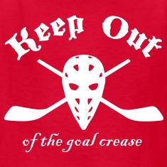 Keep Out (Of The Goal Crease) Kids' Shirts