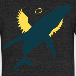 Angel Whale - Mens' Shirt - Unisex Tri-Blend T-Shirt by American Apparel