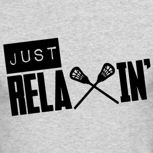 Just Relaxin' (Lacrosse) Long Sleeve Shirts - Men's Long Sleeve T-Shirt by Next Level