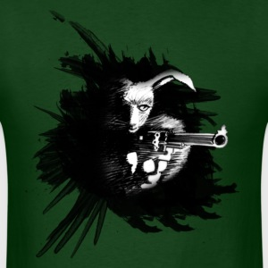 Bunny aims with a weapon rabbit hare cony leveret long ear shoot gangster colt gun criminal crime T-Shirts - Men's T-Shirt